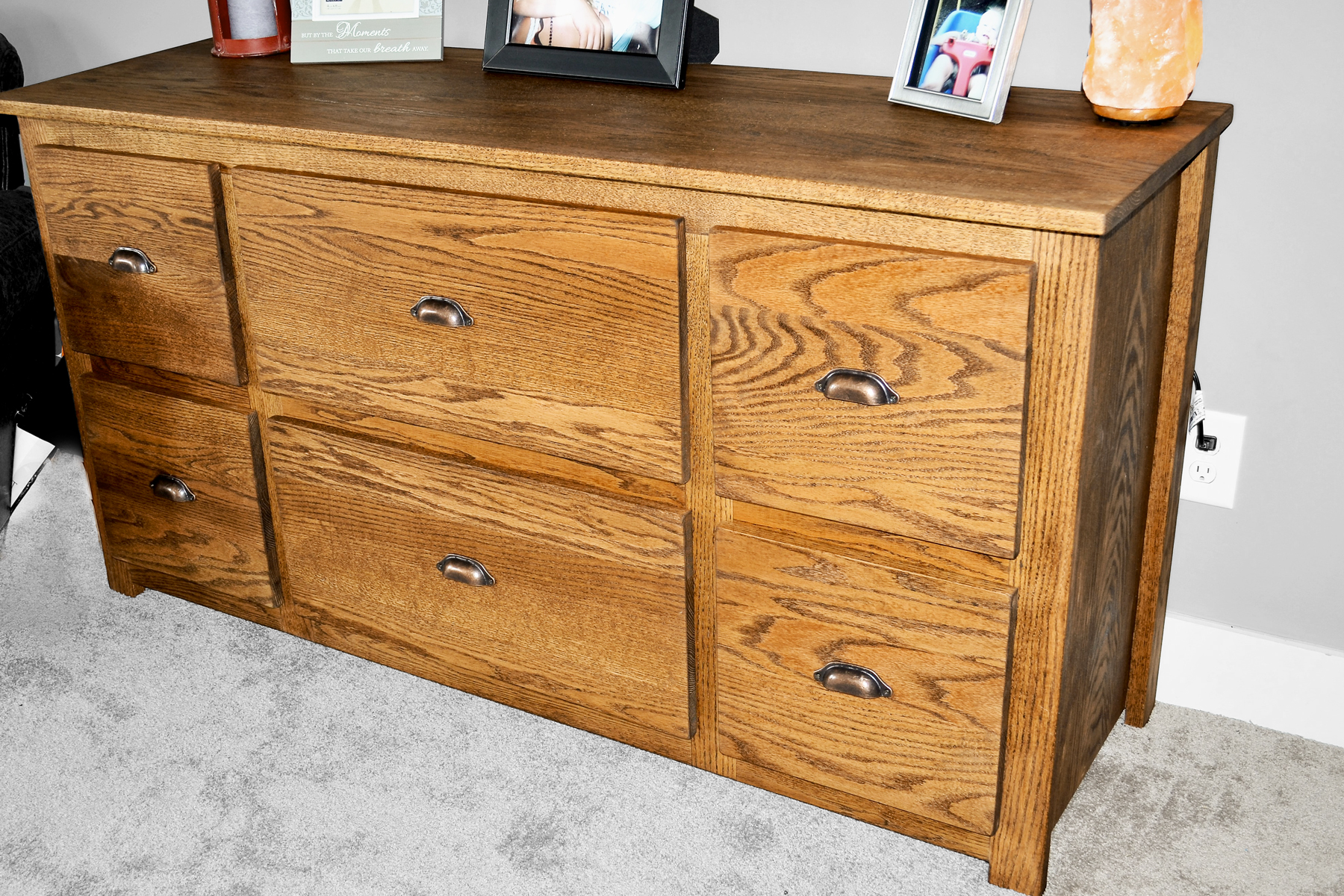 Solid Red Oak Dresser